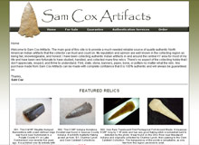 Sam Cox Artifacts